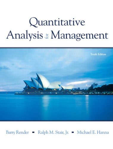 Quantitative Analysis for Management  10th 2009 edition cover