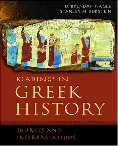 Readings in Greek History Sources and Interpretations  2006 edition cover
