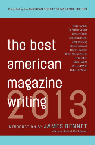 Best American Magazine Writing 2013   2013 edition cover