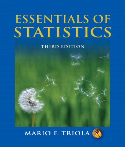 Essentials of Statistics  3rd 2008 edition cover