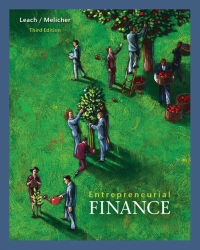 Entrepreneurial Finance  3rd 2009 edition cover