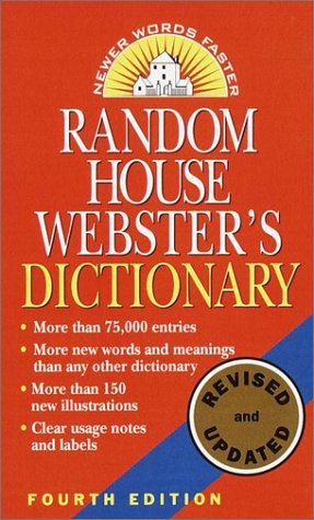Random House Webster's Dictionary  4th 2001 (Revised) edition cover