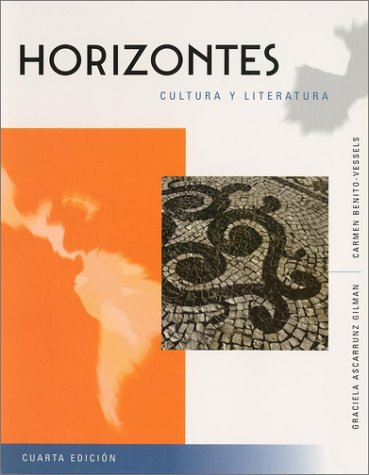Horizontes Cultura y literatura, with Reading Assistant CD 4th 2001 (Revised) edition cover