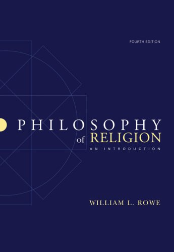 Philosophy of Religion An Introduction 4th 2007 (Revised) edition cover
