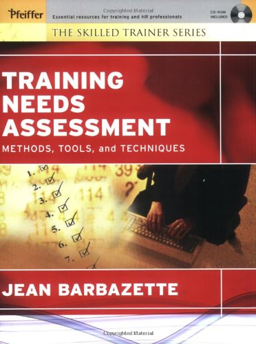 Training Needs Assessment Methods, Tools, and Techniques  2006 edition cover