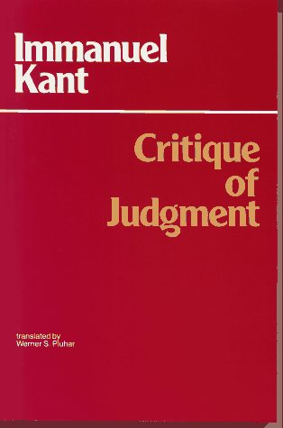 Critique of Judgment   1987 edition cover