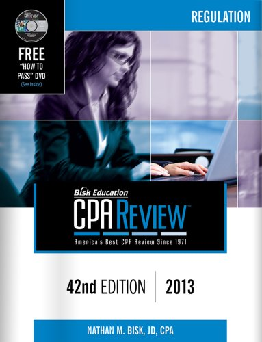 Bisk CPA Review, 42nd Edition, REG Volume N/A edition cover