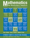 Mathematics for Elementary Teachers: a Contemporary Approach 10e Student Hints and Solutions Manual  10th 2014 edition cover