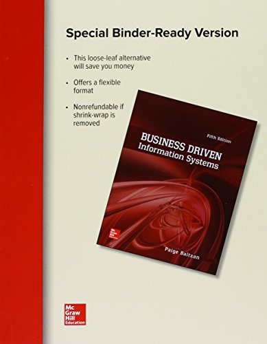 Loose Leaf for Business Driven Information Systems  5th 2016 9781259655258 Front Cover