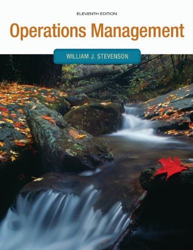 Operations Management  11th 2012 9780073525259 Front Cover