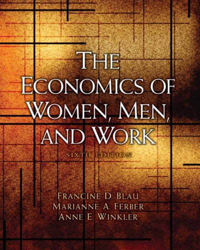 Economics of Women, Men, and Work  6th 2010 edition cover