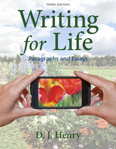 Writing for Life Paragraphs and Essays 3rd 2014 edition cover