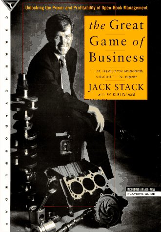 Great Game of Business Unlocking the Power and Profitability of Open-Book Management  1994 edition cover