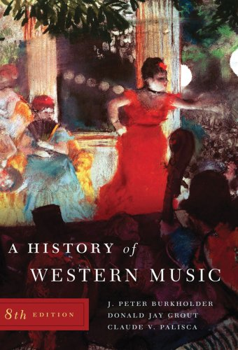 History of Western Music  8th 2009 edition cover