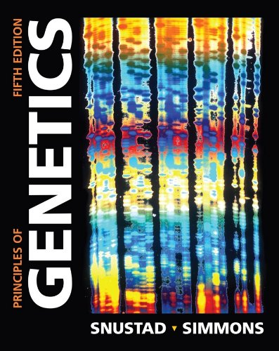 Principles of Genetics  5th 2009 edition cover