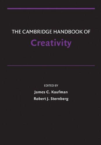 Cambridge Handbook of Creativity   2010 edition cover