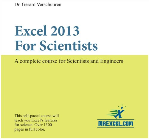 Excel 2013 for Scientists   2014 9781615470259 Front Cover