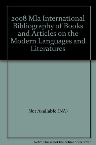 2008 Mla International Bibliography of Books and Articles on the Modern Languages and Literatures:  2009 edition cover