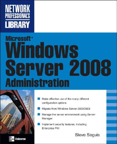 Microsoft Windows Server 2008 Administration   2008 9780071493260 Front Cover