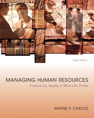 Managing Human Resources  8th 2010 edition cover