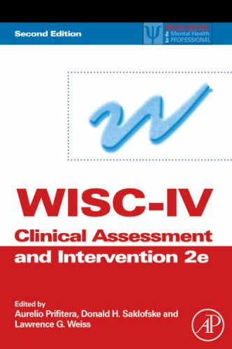 WISC-IV Clinical Assessment and Intervention  2nd 2008 edition cover