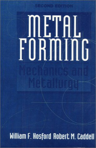Metal Forming Mechanics and Metallurgy 2nd 1993 edition cover