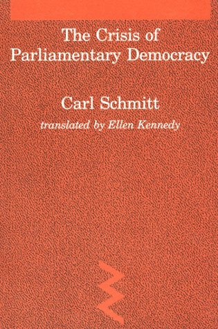 Crisis of Parliamentary Democracy   1988 edition cover