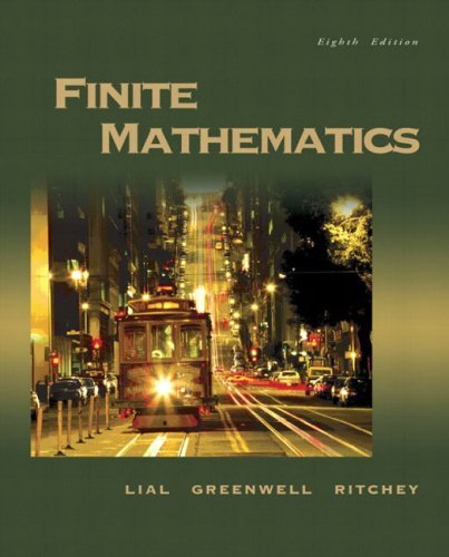 Finite Mathematics  8th 2005 (Revised) edition cover