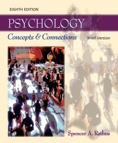 Psychology Concepts and Connections 8th 2007 (Revised) 9780495172260 Front Cover