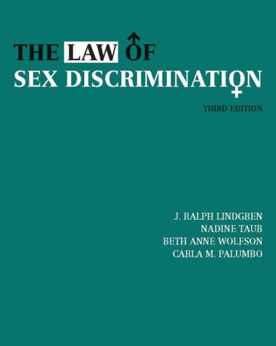 Law of Sex Discrimination  3rd 2005 (Revised) 9780534631260 Front Cover