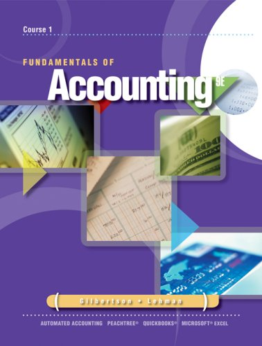 Fundamentals of Accounting Course 1 9th 2009 9780538448260 Front Cover
