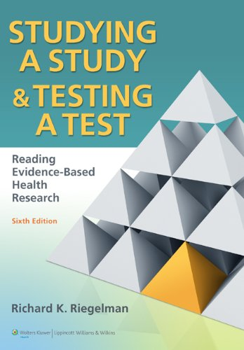 Studying a Study and Testing a Test Reading Evidence-Based Health Research 6th 2013 (Revised) edition cover