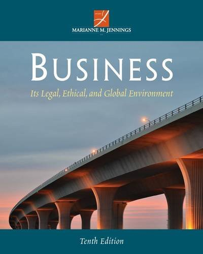 Business: Its Legal, Ethical, and Global Environment  2014 edition cover