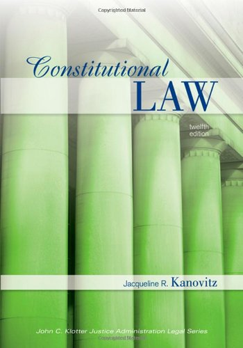 Constitutional Law  12th 2010 (Revised) edition cover