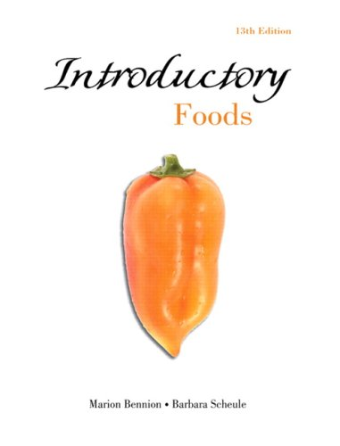 Introductory Foods  13th 2010 edition cover