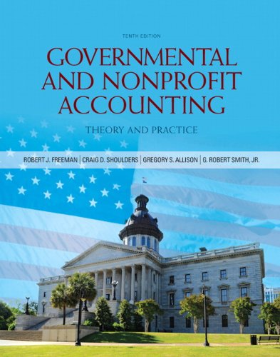 Governmental and Nonprofit Accounting  10th 2013 (Revised) edition cover