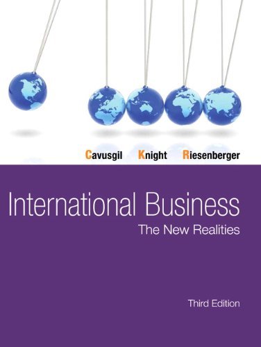 International Business The New Realities 3rd 2014 edition cover