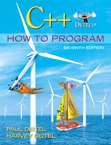 C++ How to Program  7th 2010 edition cover