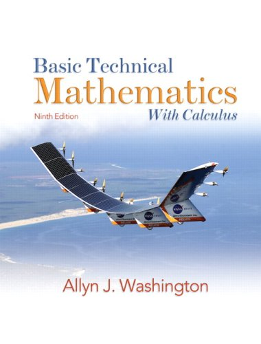 Basic Technical Mathematics with Calculus  9th 2009 edition cover