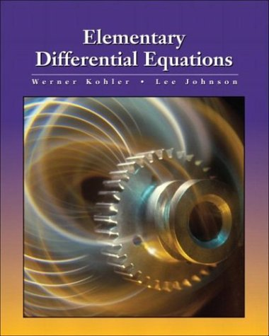Elementary Differential Equations   2003 edition cover