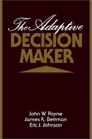 Adaptive Decision Maker   1993 9780521425261 Front Cover