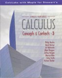 Single Variable Calculus Concepts and Contexts 3rd 2005 9780534410261 Front Cover