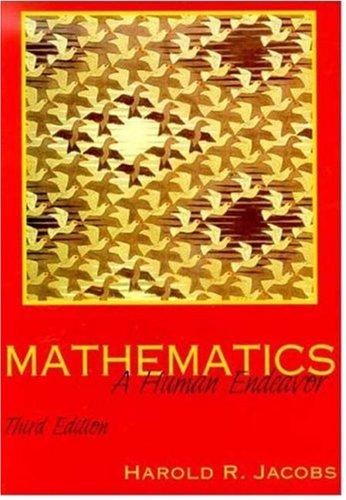 Mathematics A Human Endeavor 3rd 1994 edition cover