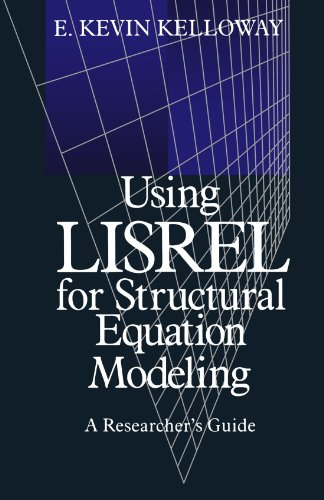 Using LISREL for Structural Equation Modeling A Researcher's Guide  1998 edition cover