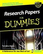 Research Papers for Dummies�   2002 edition cover
