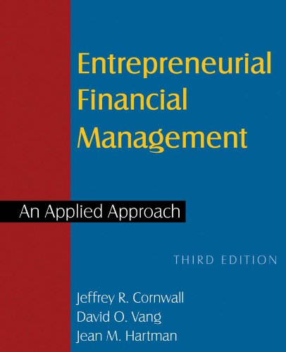 Entrepreneurial Financial Management An Applied Approach 3rd 2013 (Revised) edition cover