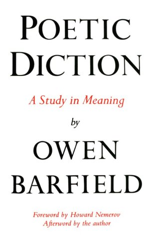 Poetic Diction A Study in Meaning 2nd edition cover