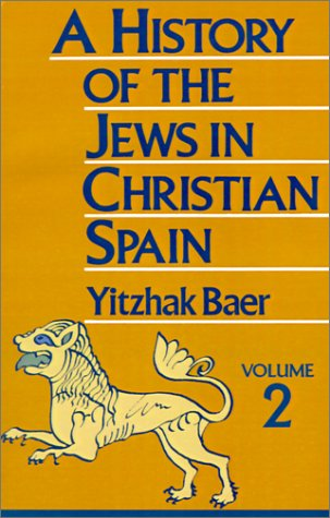 History of the Jews in Christian Spain  Reprint edition cover