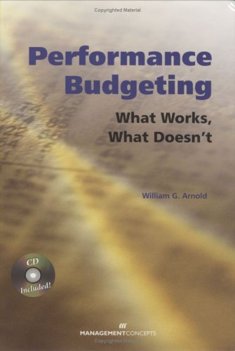 Performance Budgeting What Works, What Doesn't  2008 9781567262261 Front Cover