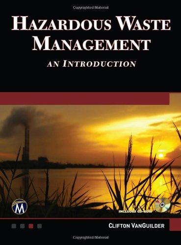 Hazardous Waste Management An Introduction  2012 9781936420261 Front Cover